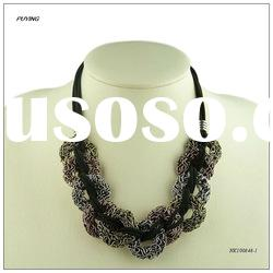 Latest Design Chunky Metal Wire Lady Costume Alloy Necklace, Guangzhou Jewellery