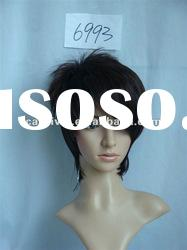 Male black short adult wigs/Black synthetic wigs for adult(BSFW-2258)