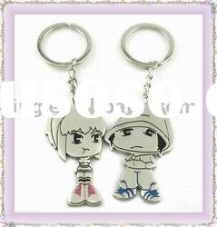 Metal alloy lover keyring /fashion cartoon keychain