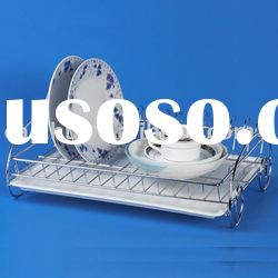 Single Tier Chrome Wire Dish Rack