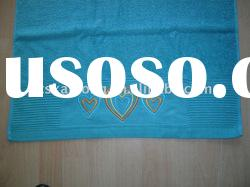 cotton terry bath towel with embroidery logo