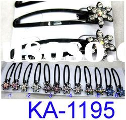 fashion kids hair snap clip with crystal