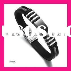 fashion medical id stainless steel silicone bangles design