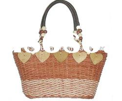 fashion straw bags leather handle (NV-T010)