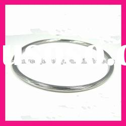 fashion wholesale stainless steel silver color cable wire bangle