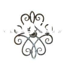 nice beautiful elegant european style wrought iron flowers plate forged group ware