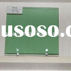 sell 4mm 5mm 6mm tinted dark green float glass sheet for building