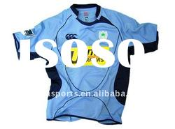 100% polyester Hot style custom quick dry promotion printing Rugby Jersey
