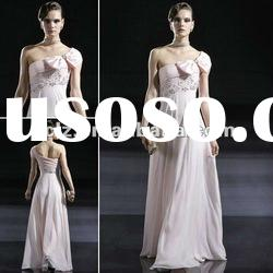 C56623 elegant lady bowknot long evening pageant dress