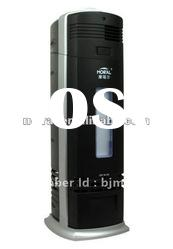 Home electrostatic air purifier with activated carbon filter and UVC lamp