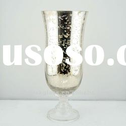 mercury hurrican glass candle holder with pedestal