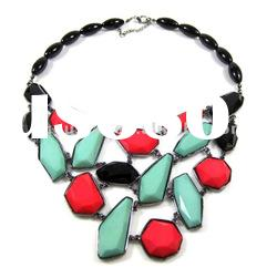 red color resin bead necklace