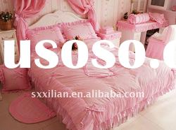 100%cotton princess bedding sets/bedskirt set/bridal bedsheet set