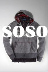 Custom Private Label Zip Front Hoody Sweater With High Quality