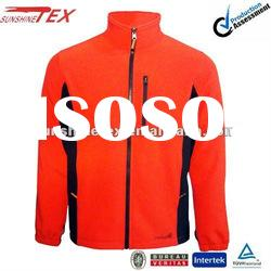 Fashion!!!Men's red softshell jacket without hood