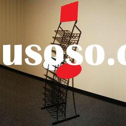Metal Wire Wine Bottle Display Rack Stand with Sign Plates