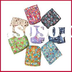 Waterproof PUL babyland 9 cute patterns reusable baby cloth diapers