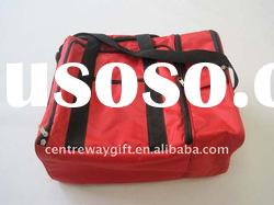 latest fashion red polyester travel bag red leisure bag