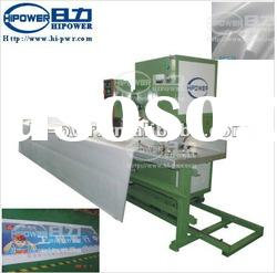Automatic stepped high frequency canvas/tent/tarpaulin welding system