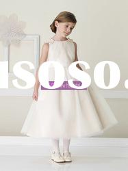 Ball Gown Scoop Organza Champagne Flower Girl Dresses