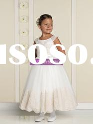 Ball Gown Scoop Organza Lace Flower Girl Dresses