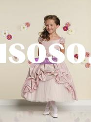 Ball Gown Scoop Taffeta Tulle Colored Flower Girl Dresses