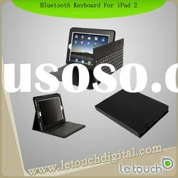 Bluetooth Wireless Keyboard Leather Case for iPad 2