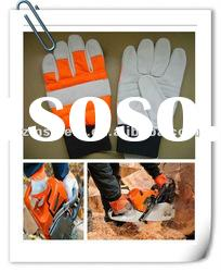 Cow grain leather safety cut resistant chainsaw gloves ZM150-H