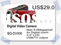 High Imitation 5 Mega Pixels Digital Video Camera with 2.4 Inch LCD