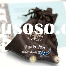 Holiday Personalized Color Satin Favor Bags