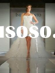 Latest new style front short and long back wedding dresses NSW3187