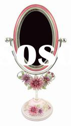 Metal Table Stand Mirror in Daisy design