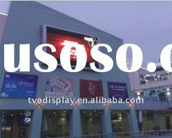 Pitch 16mm outdoor full color wall mounted advertising LED display with high refresh rate