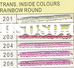 Rainbow round Trans.Inside colours crystal glass beads /glass beads wholesale