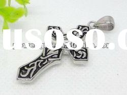 Rhinestone cross stainless steel Pendant wholesale
