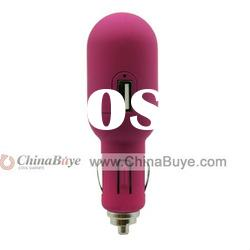 Stylish Universal Dual USB Outputs USB Car Charger Adapter for Apple iPhone and iPod- Pink