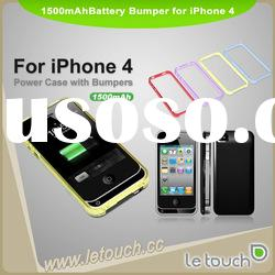 Super slim backup battery for iPhone 4 (Apple MFI certificate can be offered)