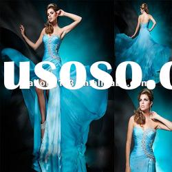 Vintage Sweetheart Ruched Crystal Beading Long Evening Dresses