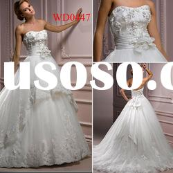 WD0447 Elegant Lace Over Layered Tulle Ball Gown Wedding Dresses China