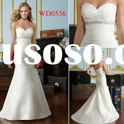 WD0536 A-Line Luxe Taffeta with Crystal Beading Wedding Dress Costume