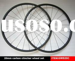 carbon wheels of road bike 20mm clincher T700