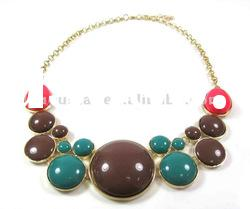 colorful resin bead necklace