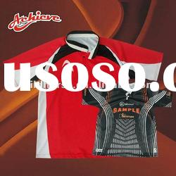 custom made rugby shirts made of polyester
