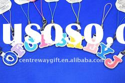 hot letter shape mobile phone chain cellphone accesssory