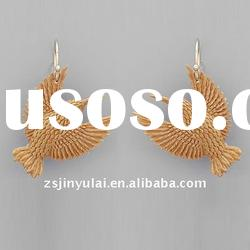 imitation 925 silver jewelry of golden earring designs for women