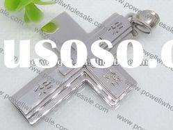 polished stainless steel cross Pendant Online Wholesale