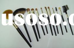 12pcs natural hair professional makeup brush set ,cosmetic brush set