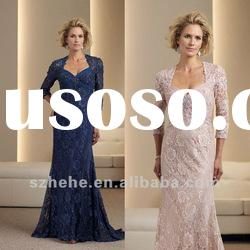 2012 Hot sell floor length cap sleeve lace mother gown