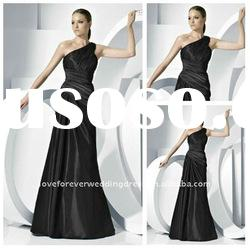 2012 Style Long New Black Evening Gown Party Dress