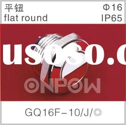 GQ16F-10/J flat round switch(pushbutton switch,electrical switch)